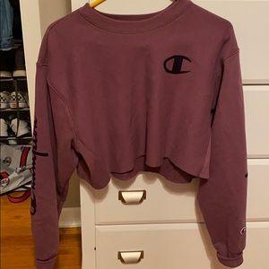 cropped champion sweatshirt